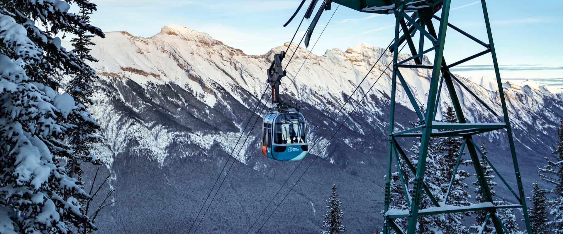 Winter Banff Gondola in Banff National Park