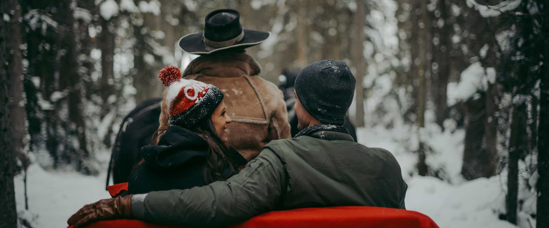 Take a winter sleigh ride at Lake Louise on the Discover Lake Louise winter tour with Discover Banff Tours