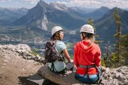 Enjoy summit views on the Mount Norquay Via Ferrata Ridgewalker Route