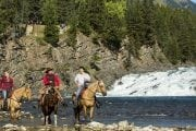 Horseback Ride Spray River Banff Trail Riders