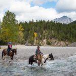 Horseback ride through the Spray River