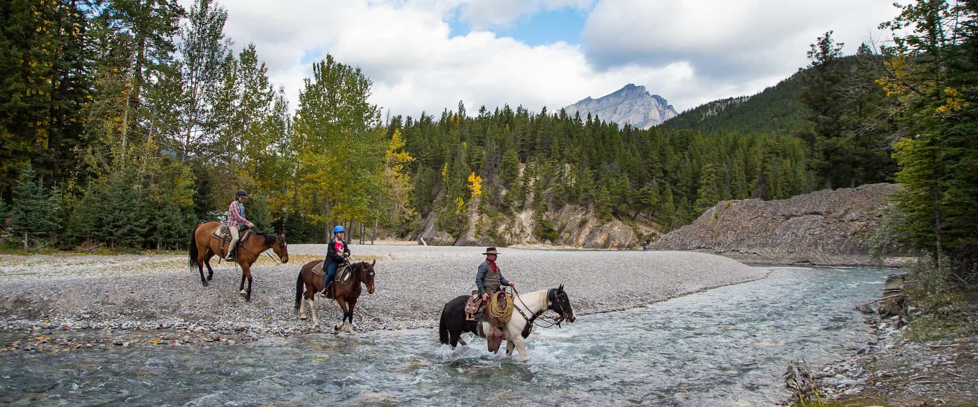 Horseback Ride – Spray River 1 Hr