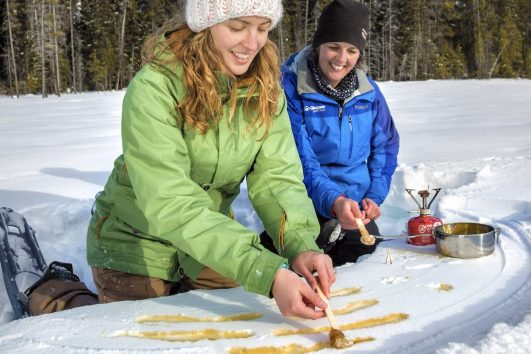 Snowshoeing Tour to Marble Canyon with Discover Banff Tours