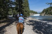 See Bow Falls on a Horseback Ride from the Banff Springs Corrals