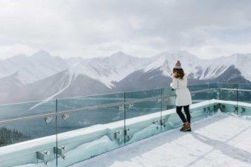 See winter views over Banff at the gondola summit