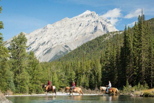 Spray River Horseback Ride Banff Trail Riders