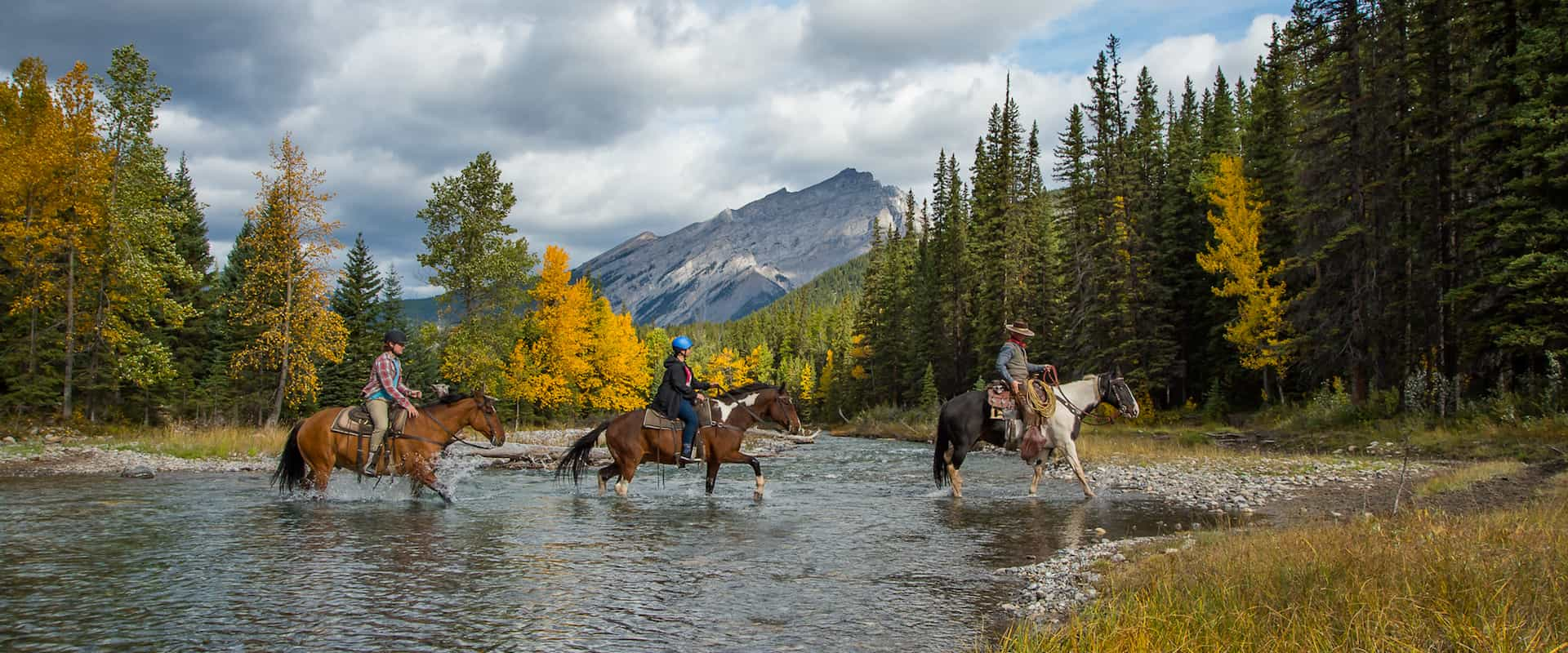 Spray River horseback trail ride