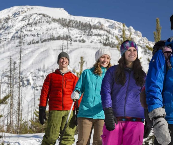 Try snowshoeing on a guided winter hike with Discover Banff Tours