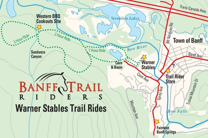 Banff Horseback Ride BBQ Cookout Discover Banff Tours - Map of banff and us