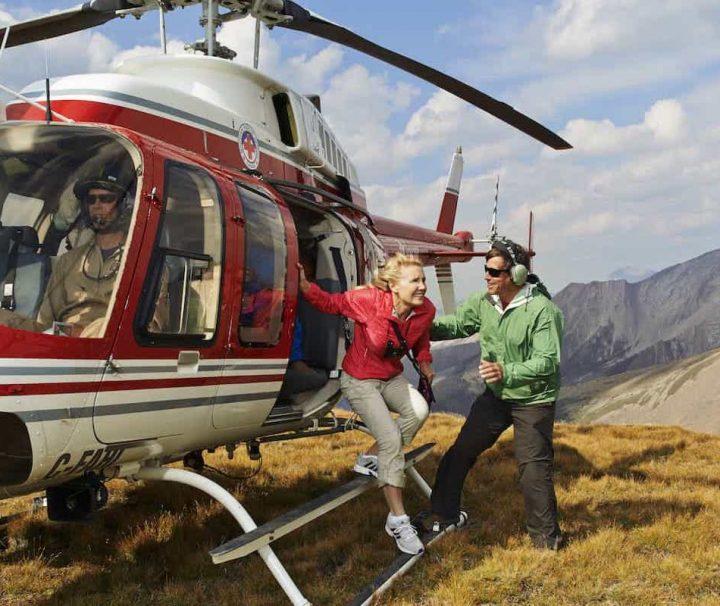 Alpine Heli Hike Landing at Charles Mount Stewart