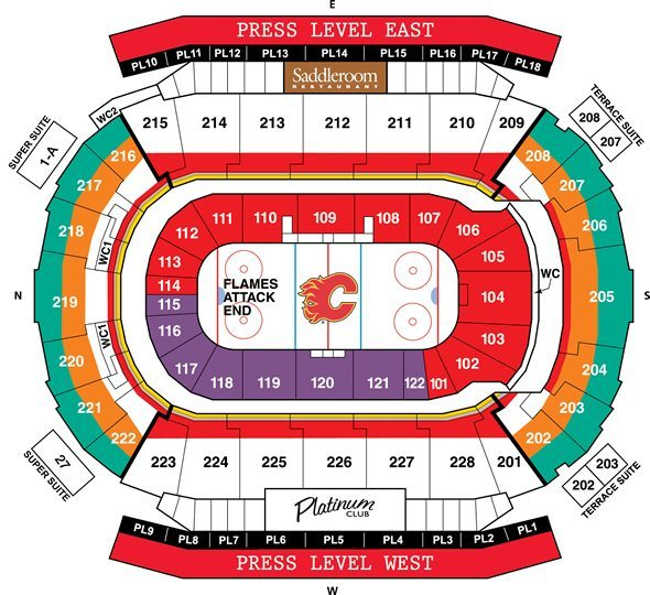 Calgary Flames Seating Chart