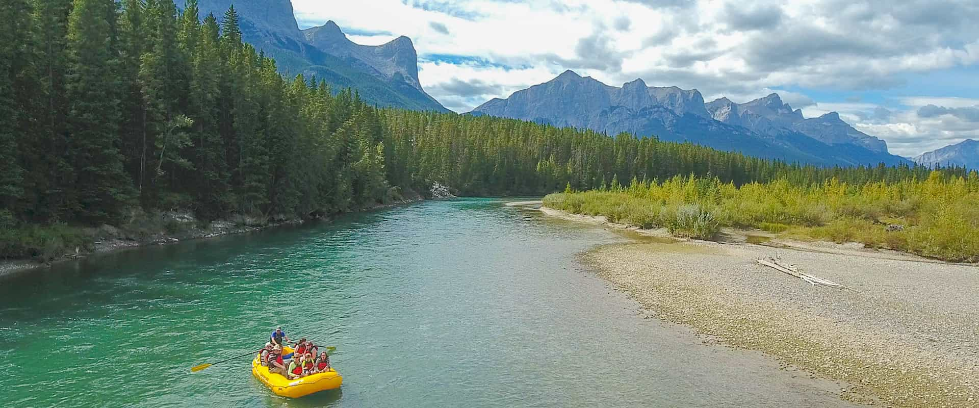Take a scenic float along the Bow River near Banff in the Canadian Rockies