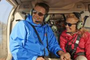 Take a scenic helicopter flight for a guided alpine