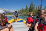 Take a scenic river tour and float along the Bow River in the Canadian Rockies