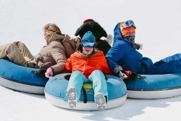 Try tubing at Alberta's largest tube park at Mt Norquay in the Canadian Rockies