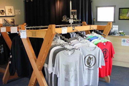 Browse the gift shop at the Yamnuska Wolfdog Sanctuary