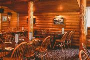 Enjoy dinner at cozy Baker Creek Bistro on the Deluxe Lake Louise Tour with Discover Banff Tours