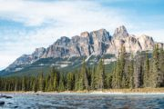 See Castle Mountain on the Deluxe Lake Louise and Moraine Lake Tour
