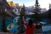 See Moraine Lake on the Deluxe Lake Louise and Moraine Lake Tour