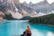 See the Valley of the Ten Peaks from the Rockpile on the Deluxe Lake Louise and Moraine Lake Tour
