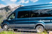 Travel along the Bow Valley Parkway in a comfortable van on the Deluxe Lake Louise and Moraine Lake Tour