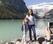 Taking Photos at Lake Louise in Summer