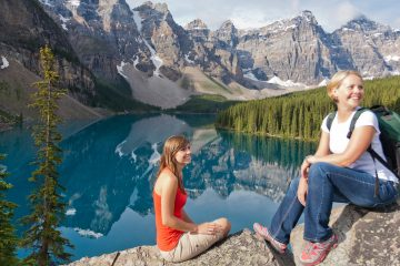 Moraine Lake Rockpile Hike in Summer