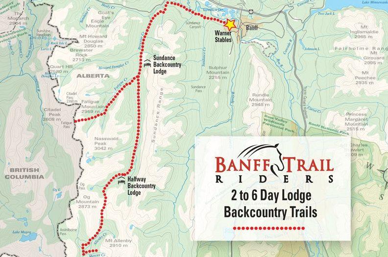 Banff Horseback Riding Vacation Trail Maps
