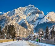 Town of Banff in the winter