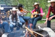 Enjoy a campfire at Sundance Lodge