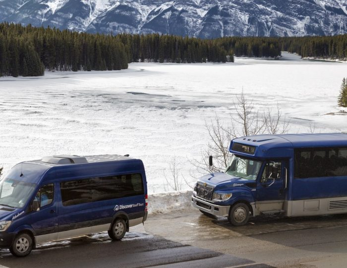 Private charter transfers with Discover Banff Tours