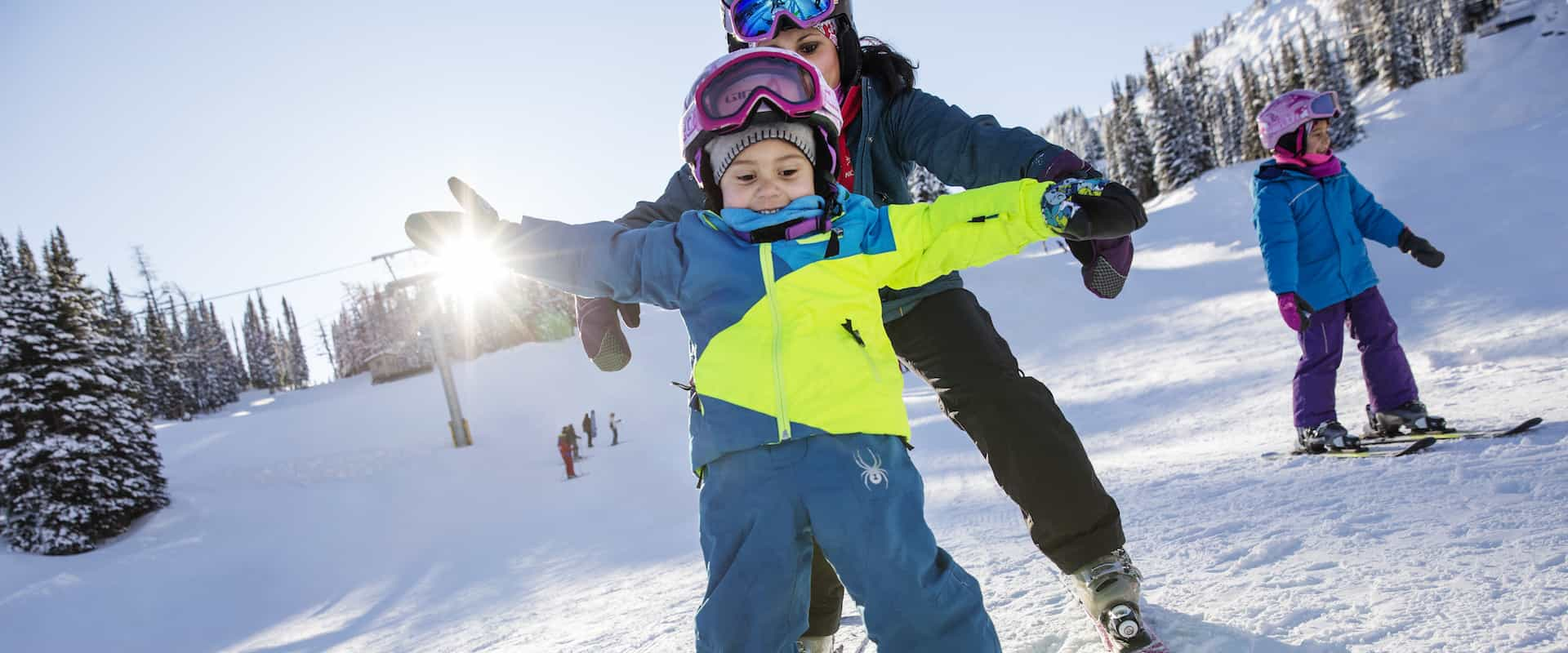 Take some family or children ski lessons at Sunshine Village Ski Resort
