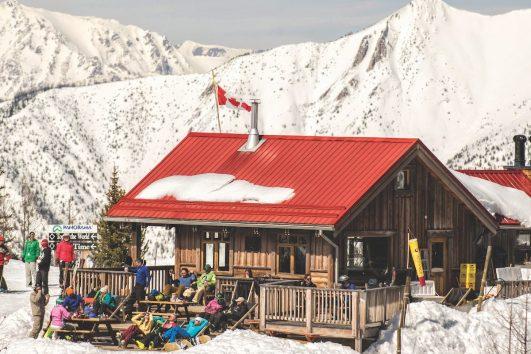 Relaxing at Panorama Mountain Village, British Columbia
