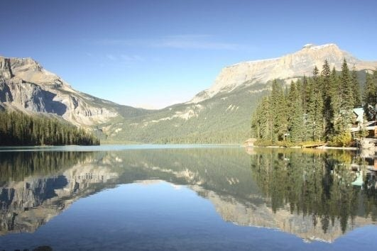Emerald Lake Lodge on the Mountain Lakes and Waterfalls Tour with Discover Banff Tours