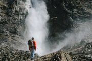 Get up close to Takakkaw Falls on the Mountain Lakes and Waterfalls Tour in the Canadian Rockies