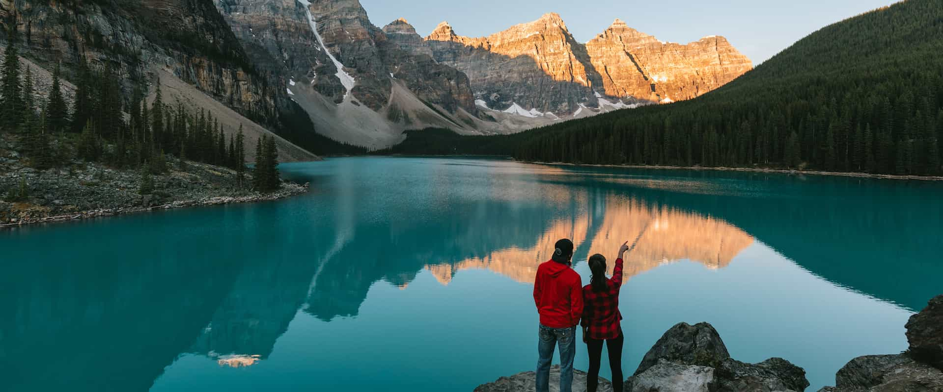 See Moraine Lake on the Mountain Lakes and Waterfalls Tour in the Canadian Rockies