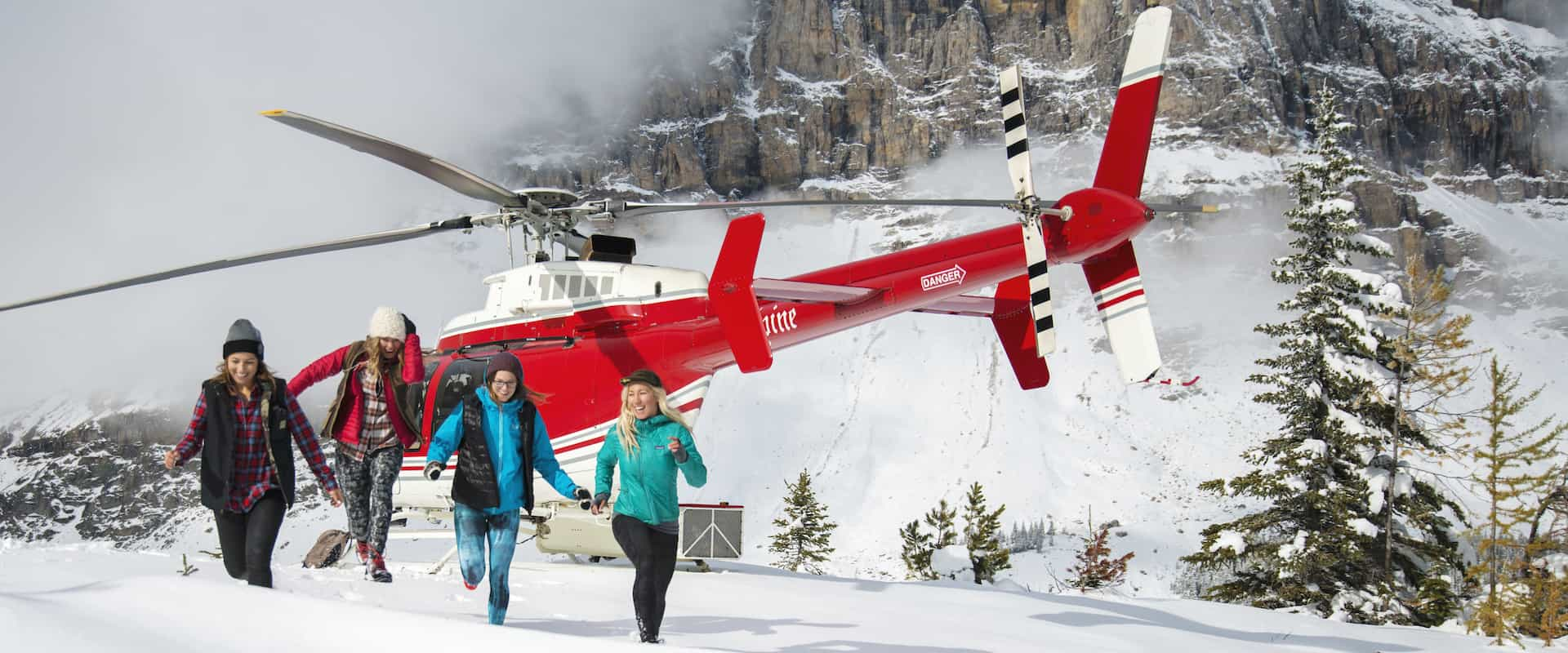 Take a private helicopter sightseeing flight to Marvel Pass near Banff National Park