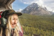 The private Banff helicopter flight takes you to Marvel Pass in the Canadian Rockies