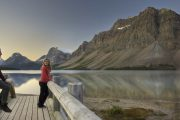 See Bow Lake along the Icefields Parkway