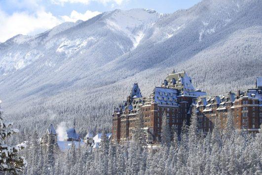 Fairmont Banff Springs Hotel in Winter