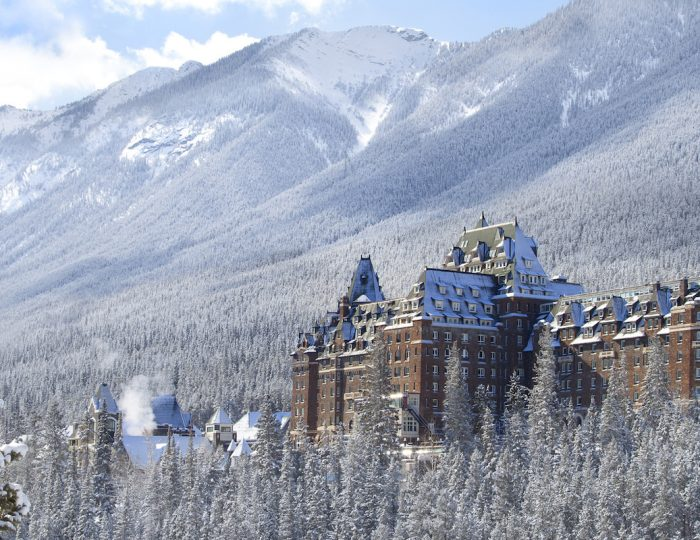 Fairmont Banff Springs Hotel in Winter