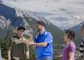 Interpretive tools at the Patch on Mount Norquay