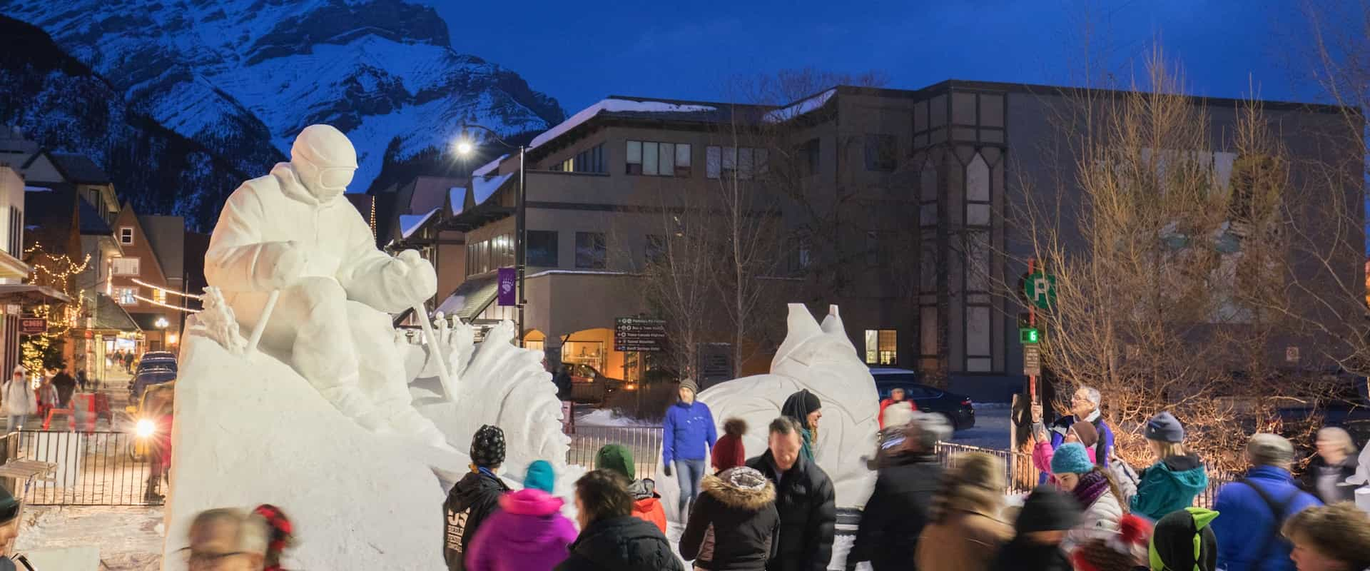 Enjoy snow sculptures during the SnowDays Festival
