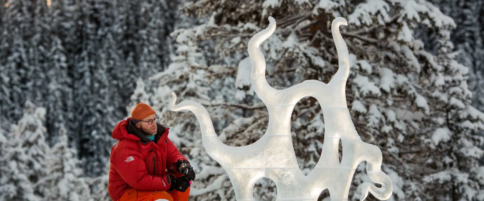See the Ice Sculptures at Lake Louise during the Ice Magic Festival in January
