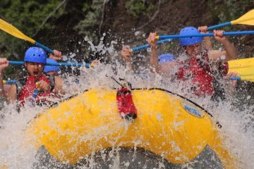 Big hit on the Kananaskis River in the Canadian Rockies