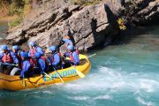 Family friendly rapids fun on the Kananaskis River in the Canadian Rockies