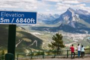 Sightsee over Banff from the Mount Norquay Banff Sightseeing Chairlift in the Canadian Rockies