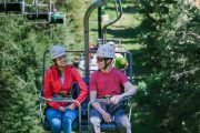 Take a ride up the open-air chairlift at Mount Norquay to the Via Ferrata in Banff in the Canadian Rockies