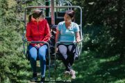 The open-air chairlift at Banff Mount Norquay is very safe