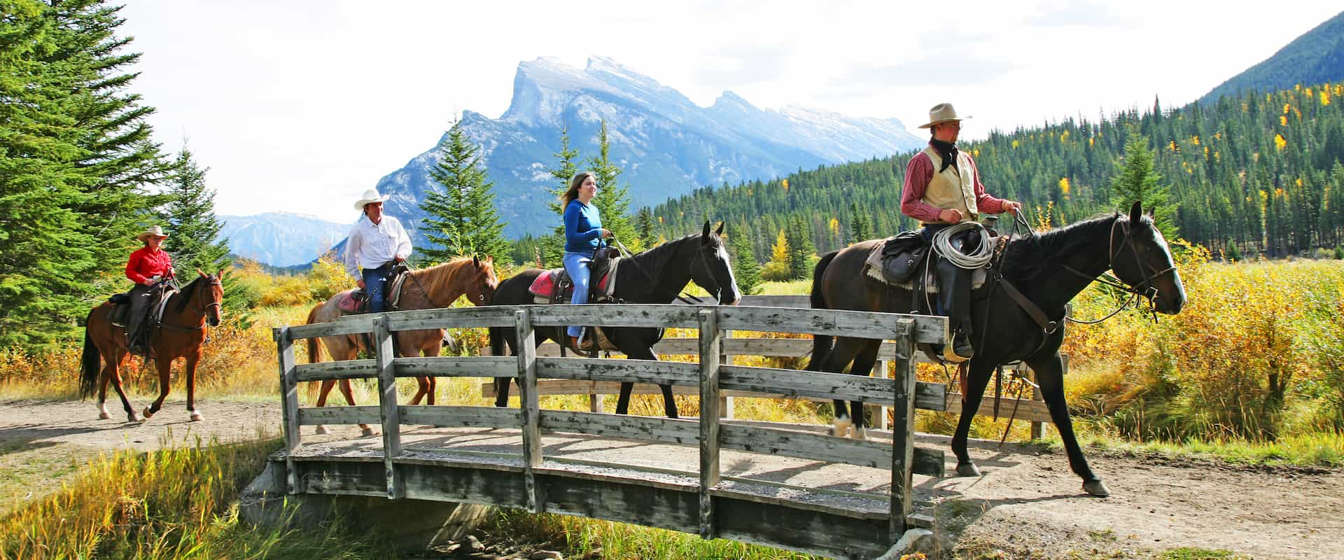 Banff horseback rides with Discover Banff Tours in the Canadian Rockies